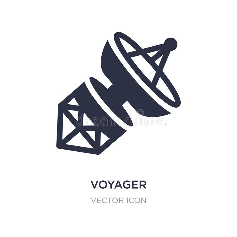 Reisendeikone auf weißem Hintergrund Einfache Elementillustration vom Astronomiekonzept stock abbildung