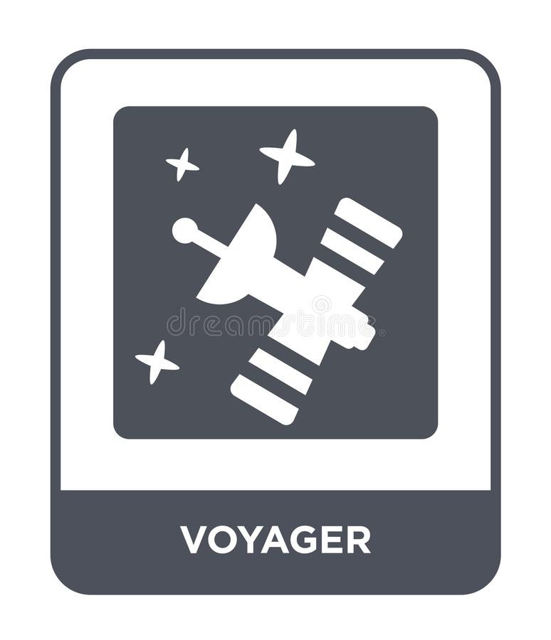 Reisendeikone in der modischen Entwurfsart Reisendeikone lokalisiert auf weißem Hintergrund einfaches und modernes flaches Symbol vektor abbildung