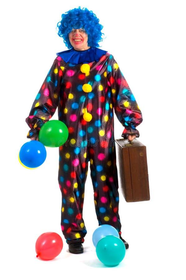 Reisender Clown lizenzfreie stockfotos