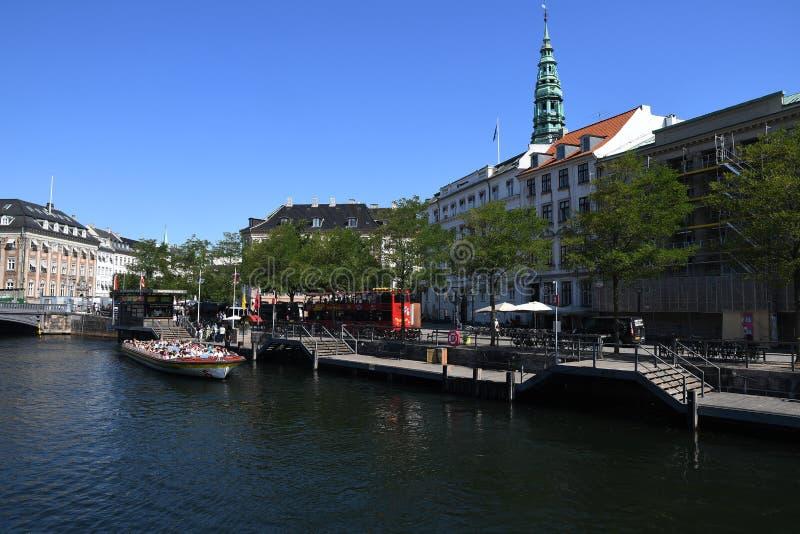 REISENDER IN COPENHAGE DÄNEMARK lizenzfreies stockbild