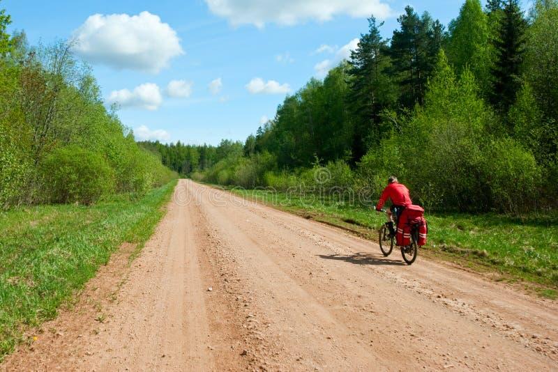 Reisender Radfahrer lizenzfreies stockbild