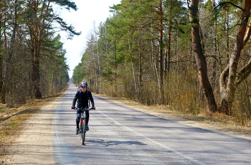 Reisender Radfahrer stockfoto