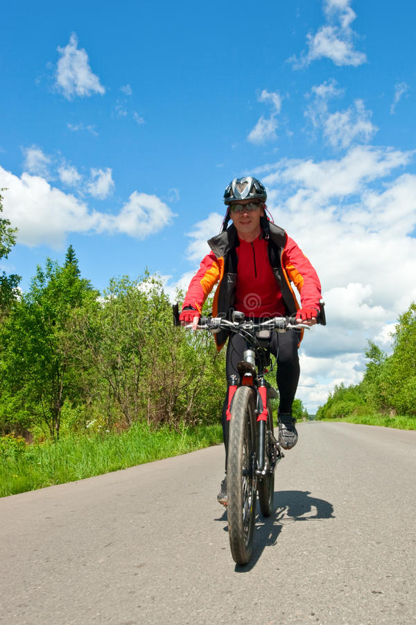 Reisender Radfahrer stockfotos