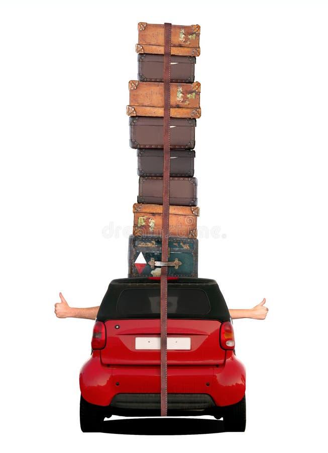 Reisendes Auto - Daumen oben stockbild