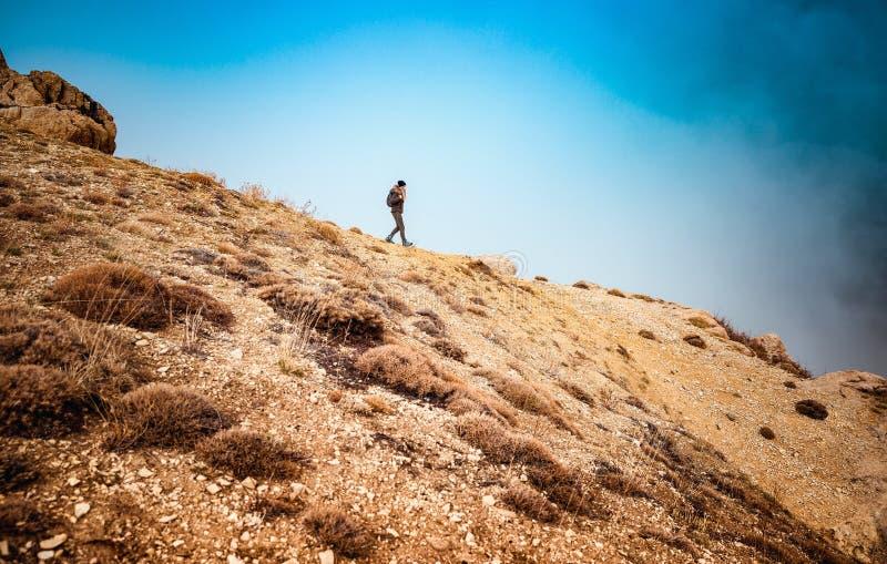Reisendfrauenwandern lizenzfreie stockfotografie
