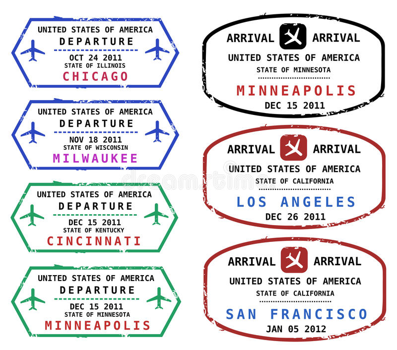 Reisenstempel lizenzfreie abbildung