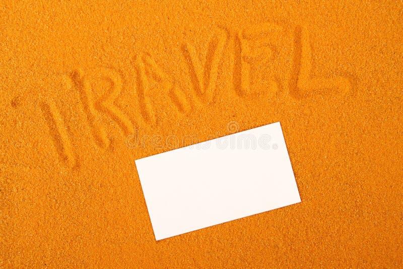 Reisesandschreiben lizenzfreies stockbild