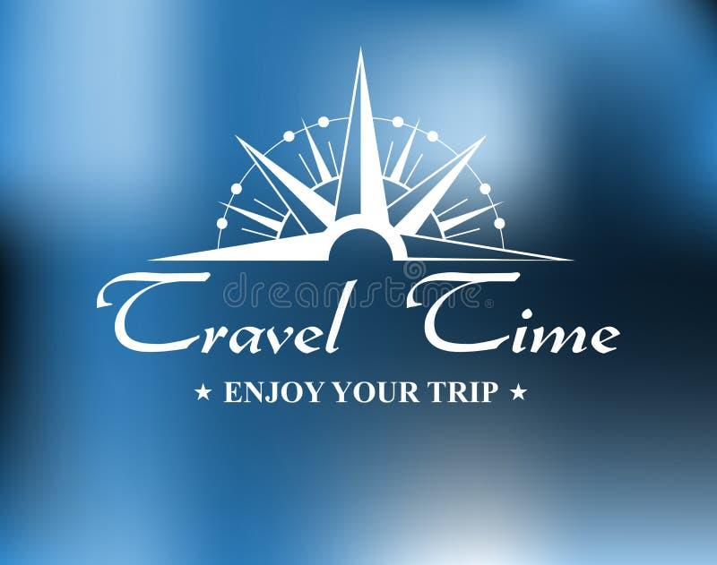 Reisetitel mit Kompass stock abbildung