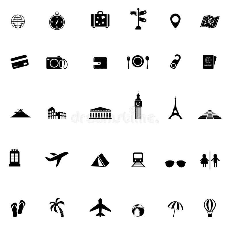 Reisetransport und -tourismus wenden Werkzeug und Markstein im Eu ein vektor abbildung