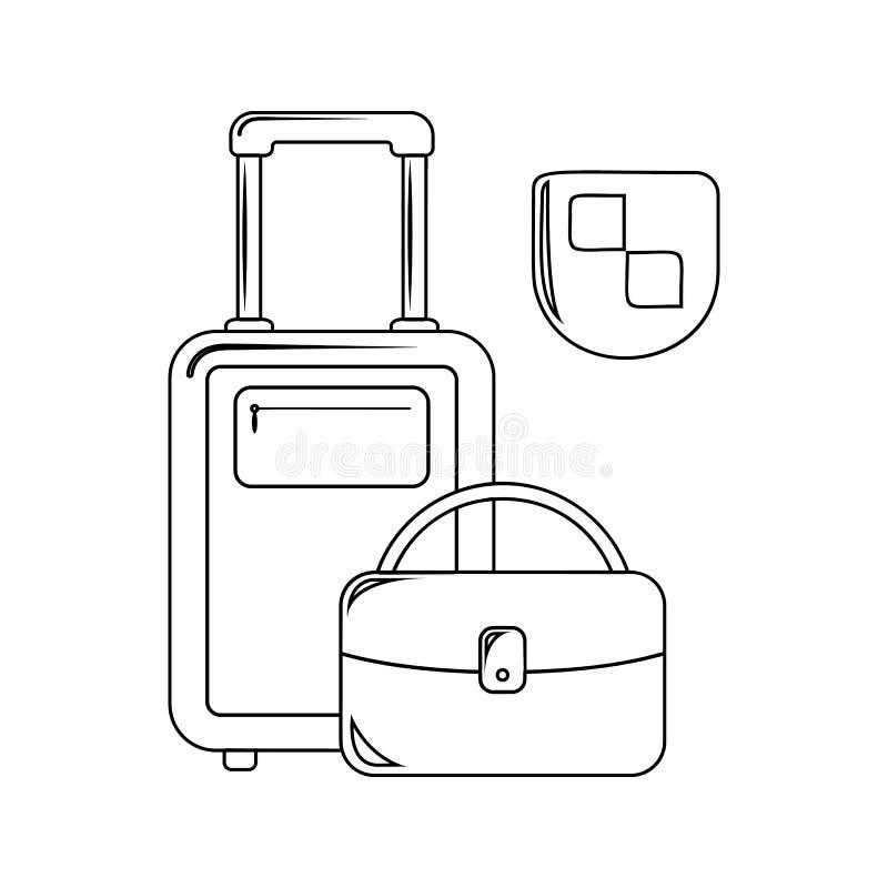 Reiseversicherungsikone Element der Versicherung für bewegliches Konzept und Netz Appsikone Dünne Linie Ikone für Websitedesign u stock abbildung