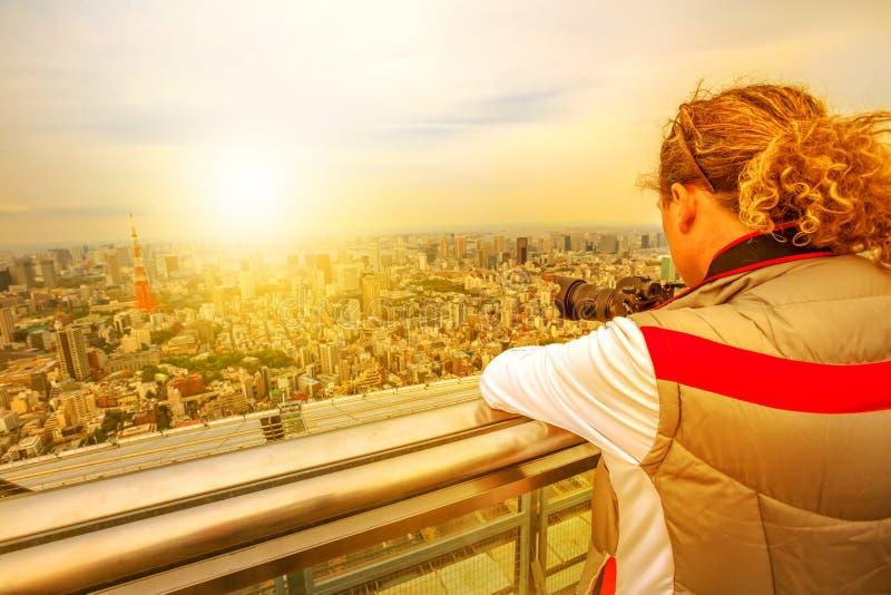 Reisfotograaf in Japan royalty-vrije stock afbeelding