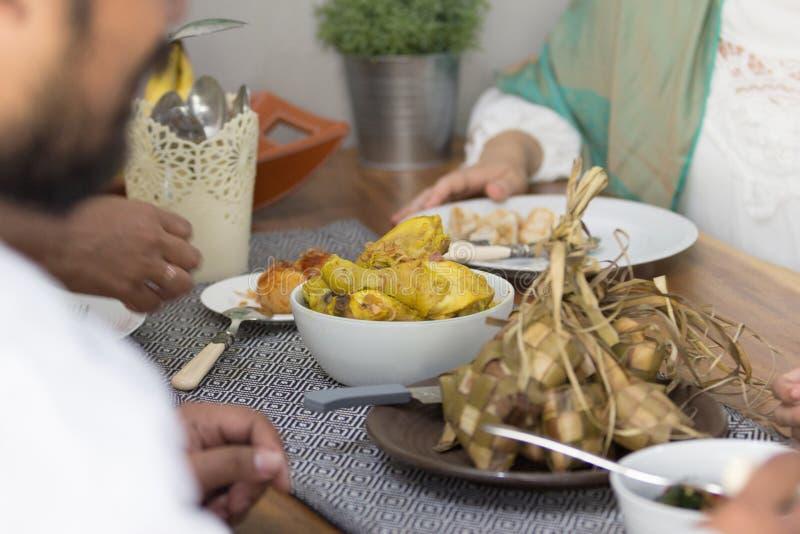 Reiskuchen während des eid Mubarak lizenzfreie stockfotografie