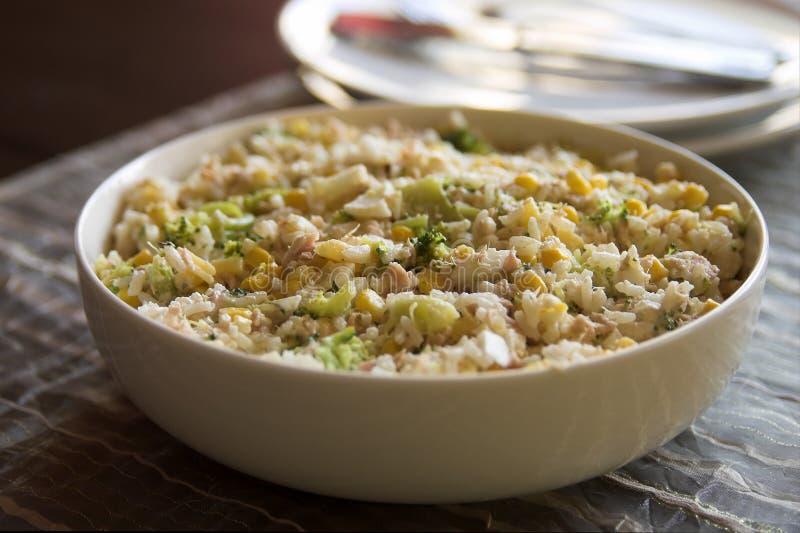 Reismahlzeit in einer Schüssel lizenzfreies stockfoto
