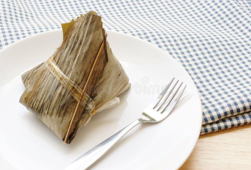 Reismehlkloß, chinesische gefüllte Maismehltasche stockfoto