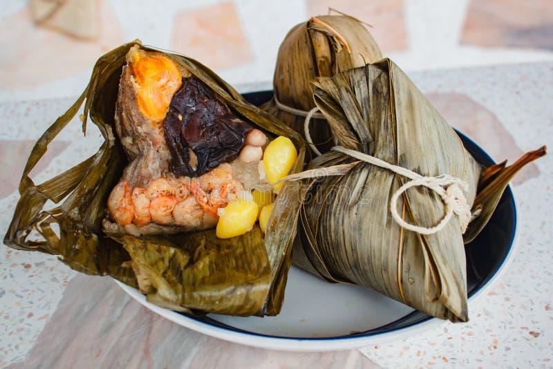 Reismehlkloß, zongzi, duanwu Festival stockfoto