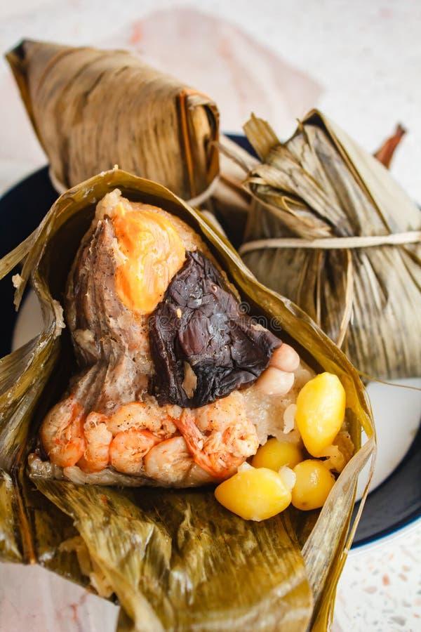 Reismehlkloß, zongzi, duanwu Festival stockbilder