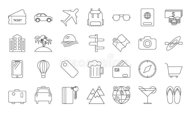 Reissymbolen en Toerismetekens royalty-vrije illustratie