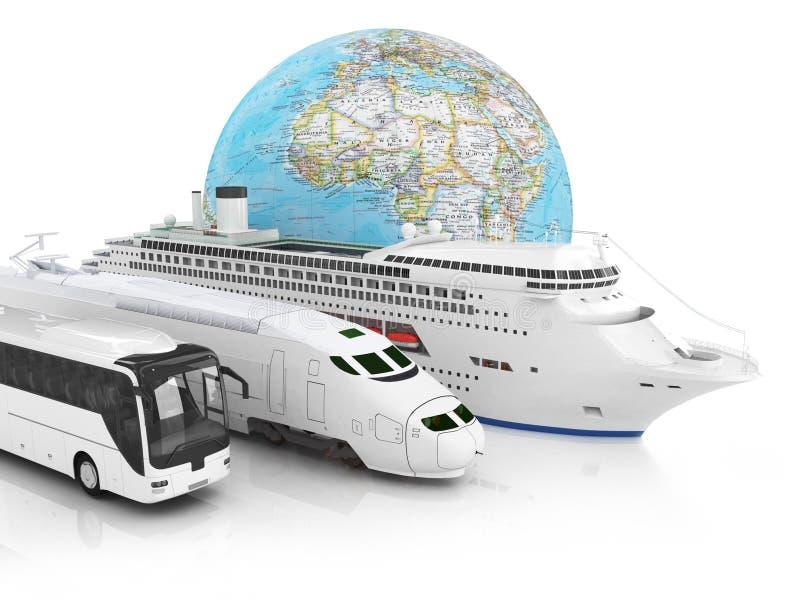 Reisvervoer royalty-vrije illustratie