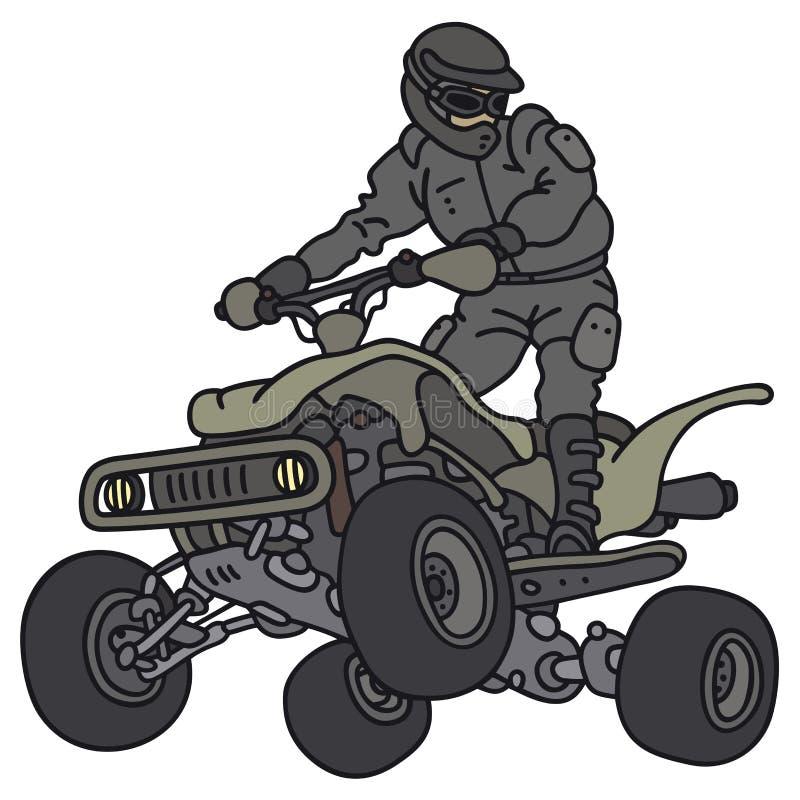 Reiter auf ATV lizenzfreie abbildung