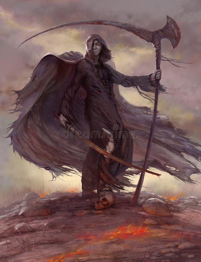 Reiter der Apocalypse, scytheman vektor abbildung