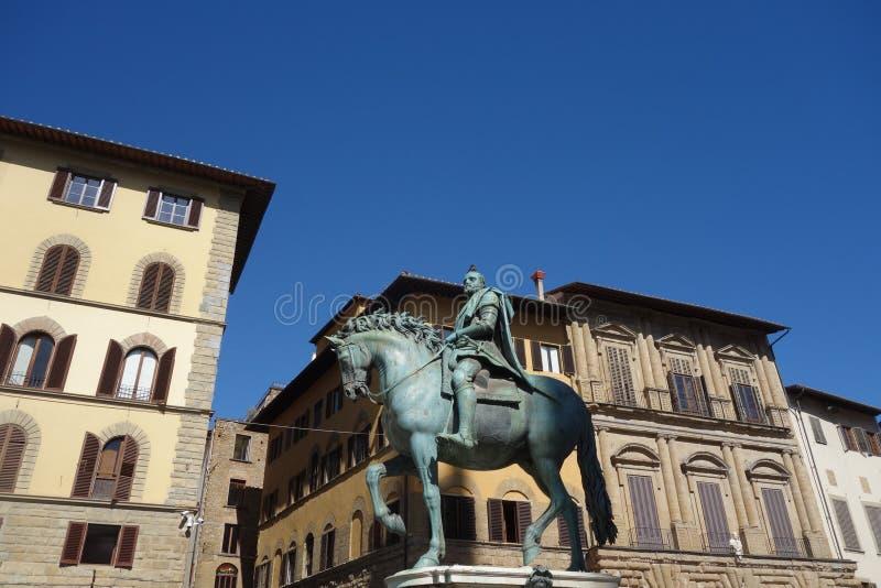 Reitermonument von Cosimo I stockfoto