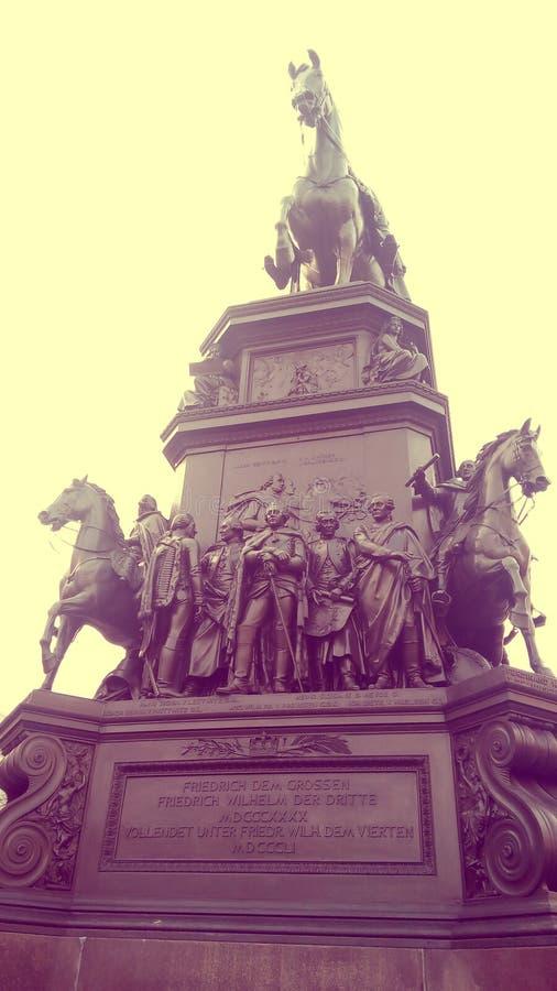 Reiterstandbild Friedrichs des Großen w Berlin obrazy stock