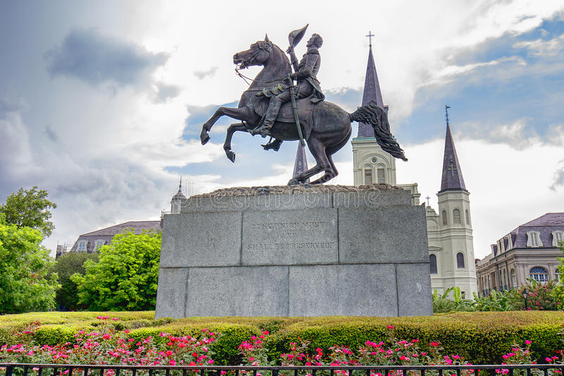 Reiterstatue von Andrew Jackson stockbilder