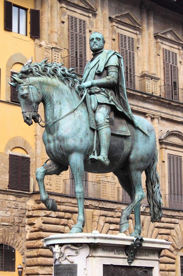 Reiterstatue von Cosimo I in Florenz lizenzfreies stockfoto