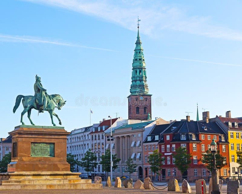 Reiterstatue von Frederik VII, Kopenhagen, Dänemark lizenzfreie stockfotografie