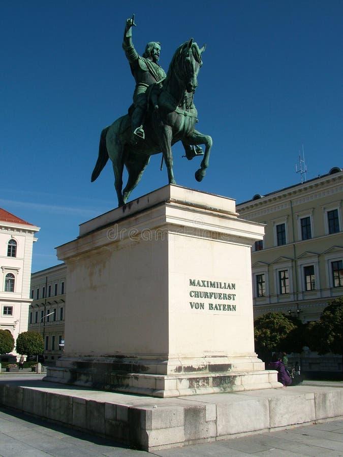 Reiterstatue von Maximilian Churfuerst lizenzfreie stockbilder