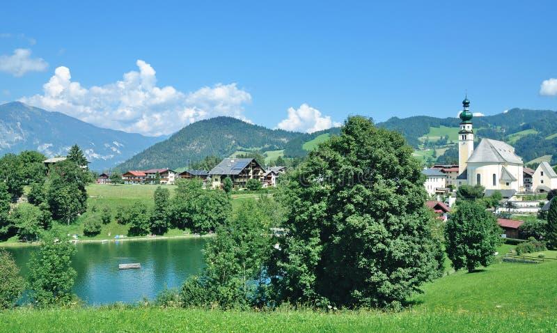 Reith im Alpbachtal, Tirol, Österreich stockfotografie