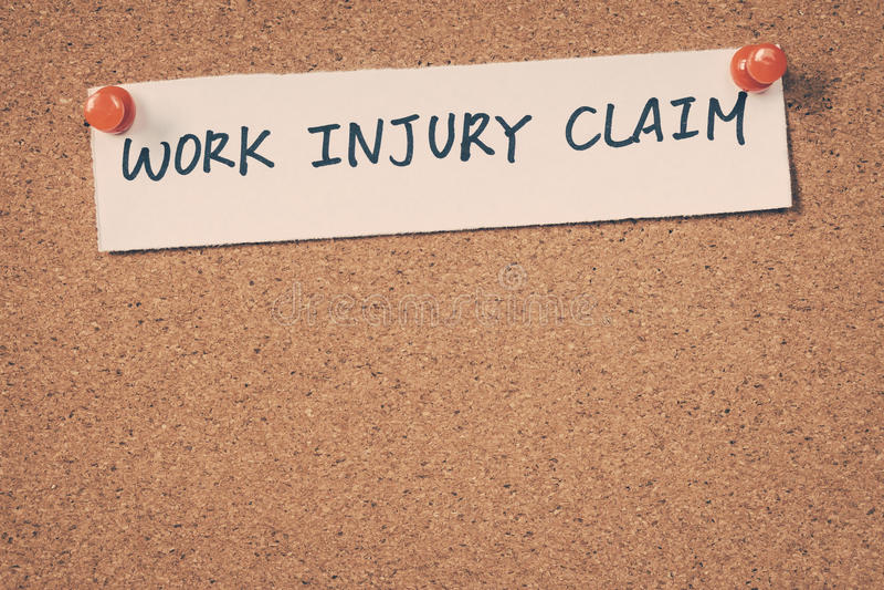 Reivindicação de ferimento de trabalho imagem de stock