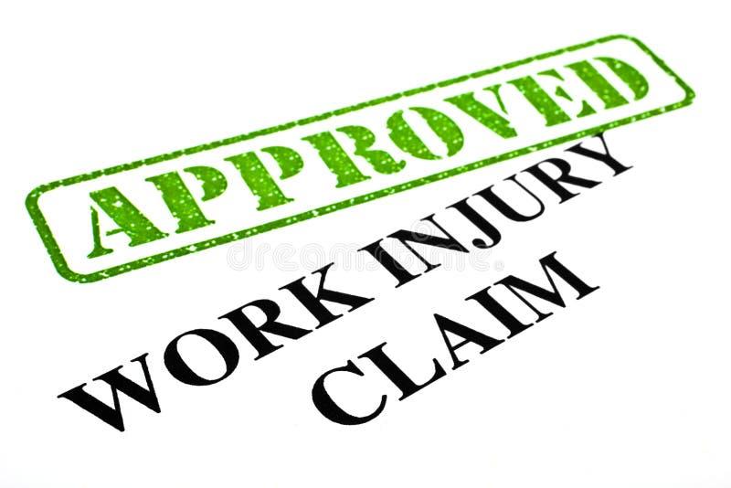 Reivindicação de ferimento de trabalho APROVADA imagens de stock
