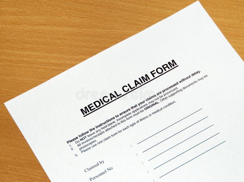 Reivindicação médica foto de stock