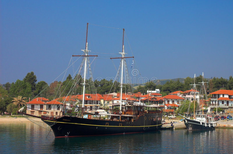 Reizend schip royalty-vrije stock foto