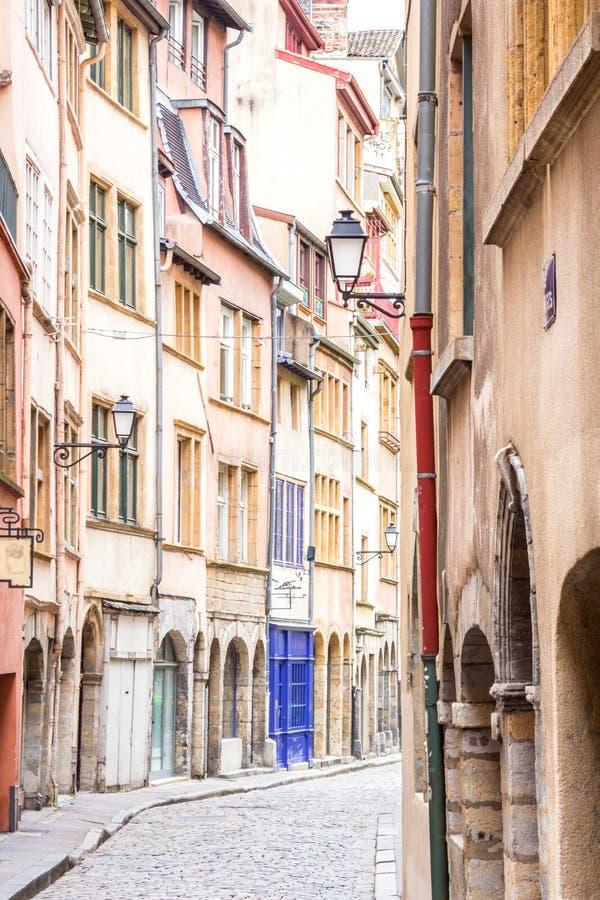 Reizend Straße in Lyon, Frankreich lizenzfreies stockbild