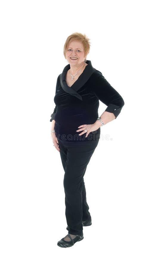 Reizende ältere Frau lizenzfreies stockfoto