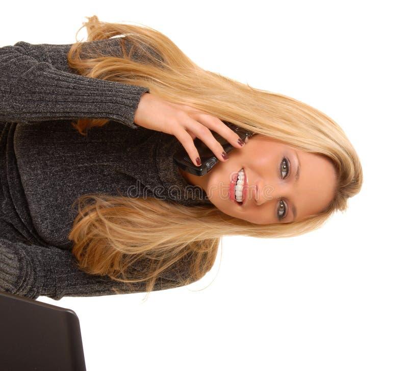 Reizende blonde Geschäftsfrau lizenzfreies stockbild