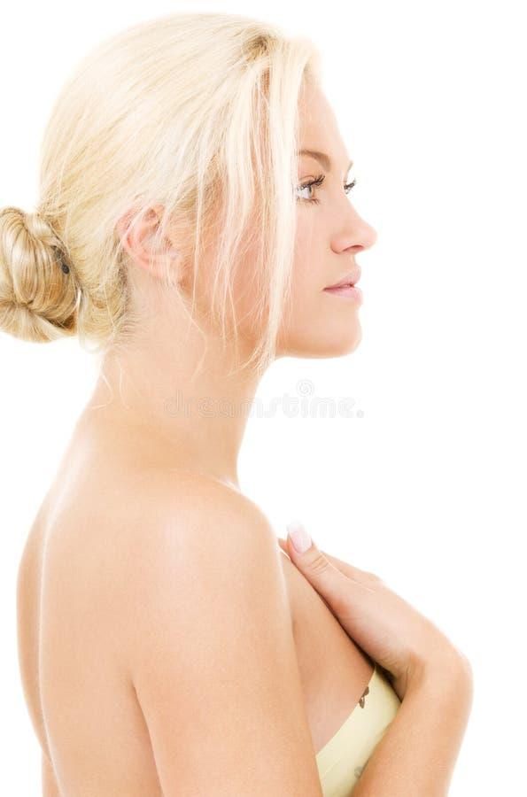 Reizende Blondine stockbild