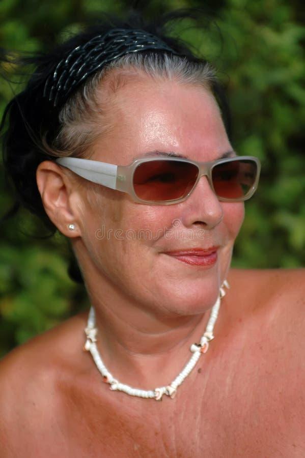 Reizende fällige Frau stockfotos