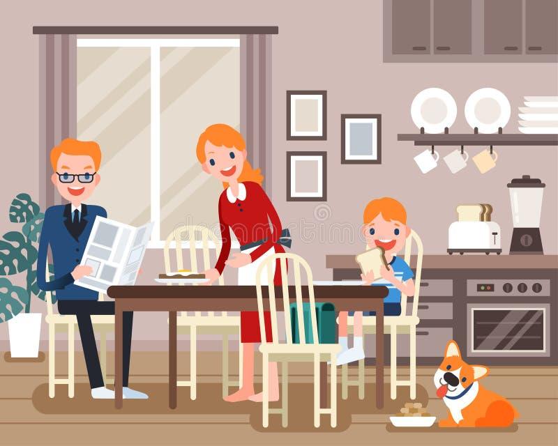Reizende Familiencharaktere vektor abbildung