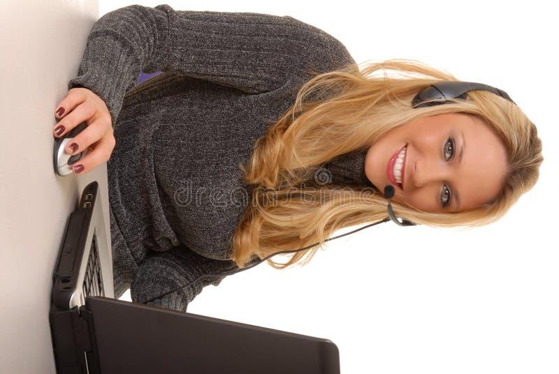 Reizende Geschäftsfrau stockfotos
