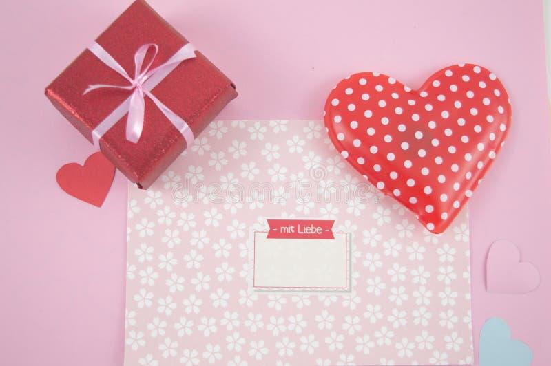 Reizender Buchstabe für Valentinsgrußtag stockfotografie