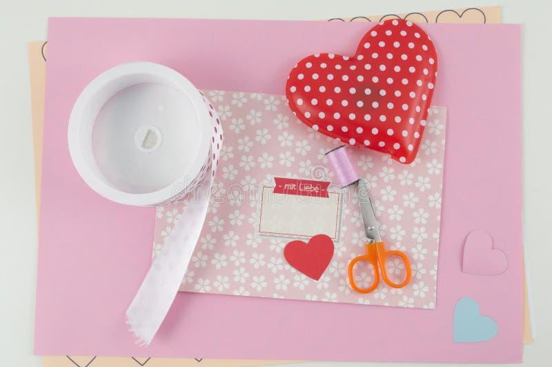 Reizender Buchstabe für Valentinsgrußtag stockbilder