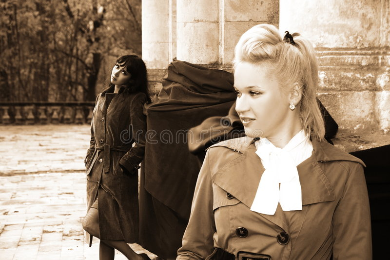 Reizender Frau stockfotos