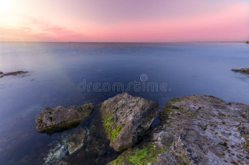 Reizender Sonnenuntergang stockbild