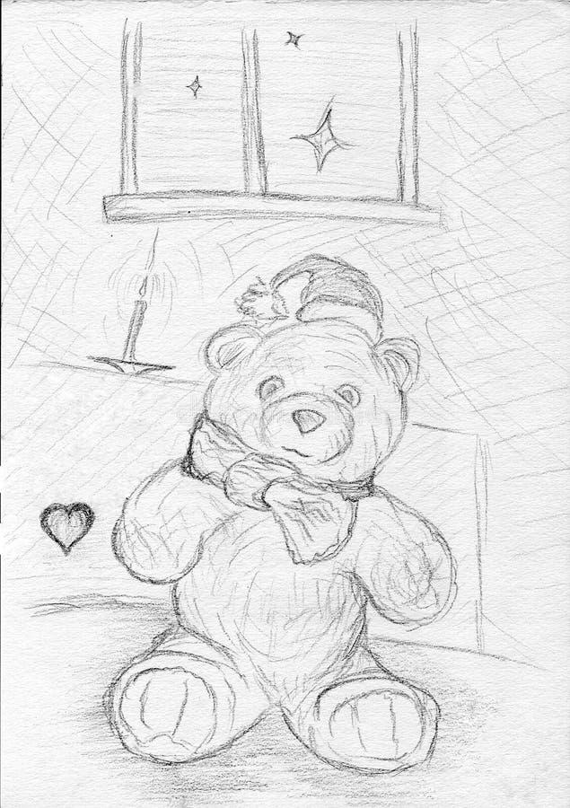 Reizender Teddybär lizenzfreies stockfoto