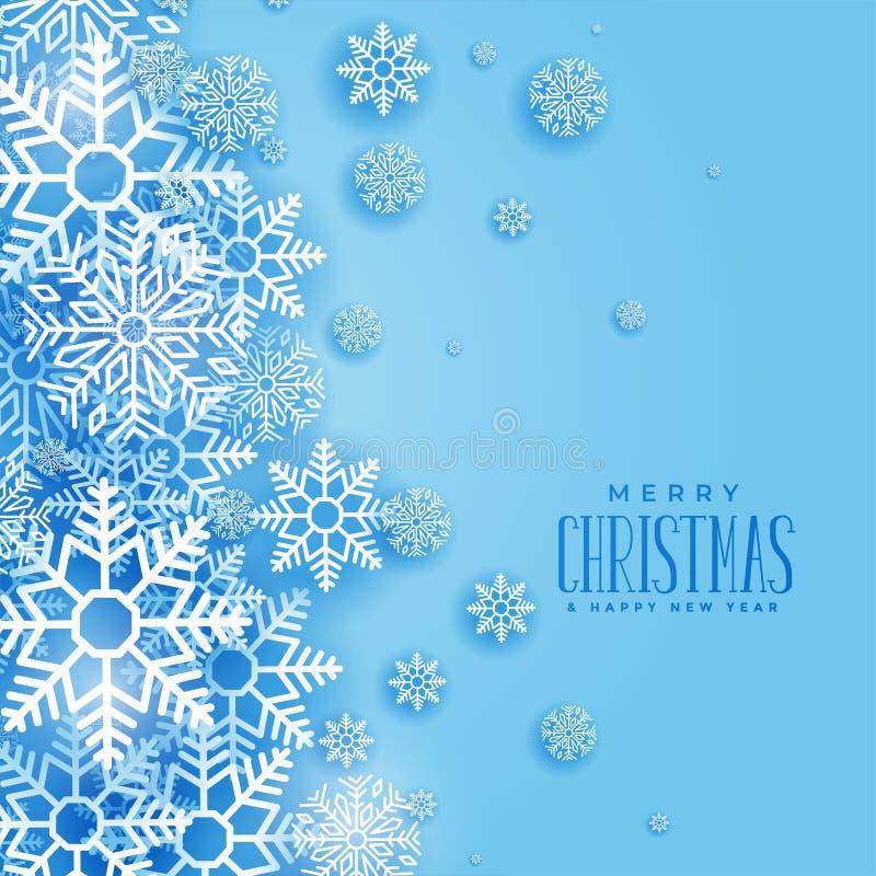 Reizender Weihnachtswinter-Schneeflockenhintergrund lizenzfreie abbildung