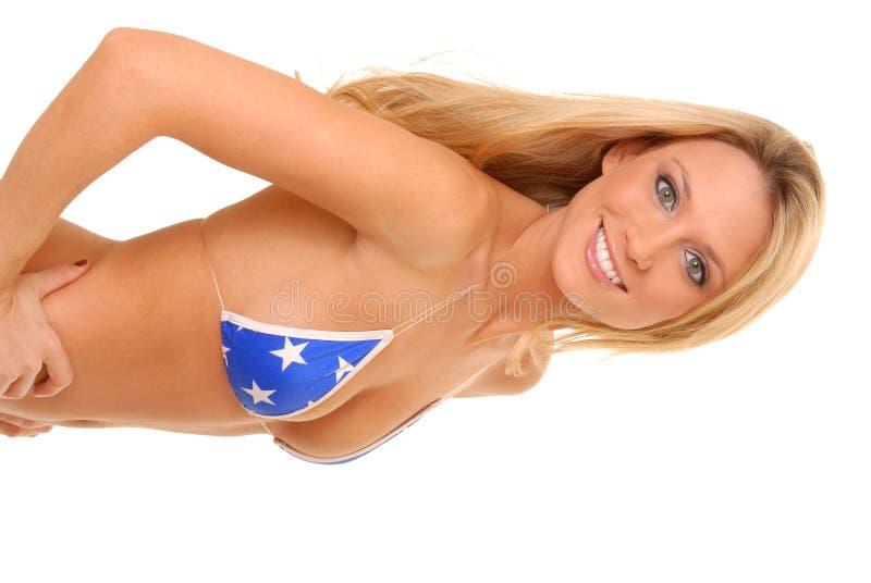 Reizendes blondes Mädchen stockbilder