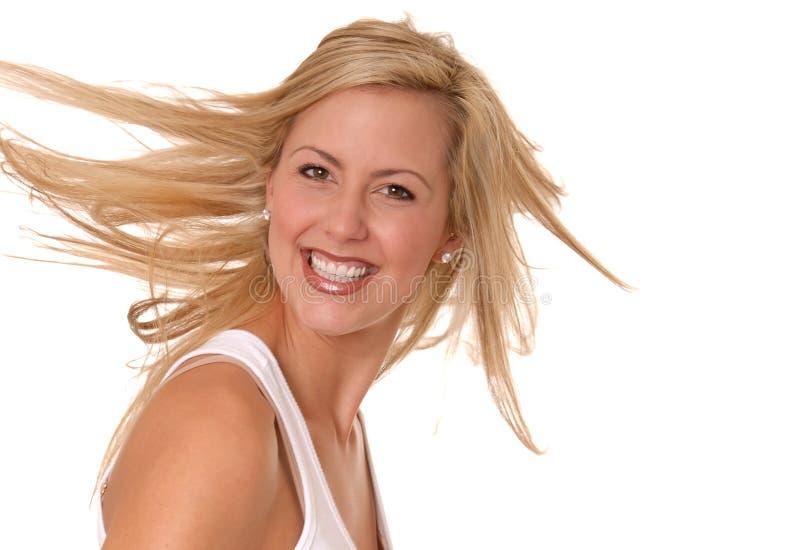 Reizendes blondes Mädchen stockfoto